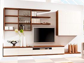 14圖簡單實用電視墻圖片 打造充足收納空間