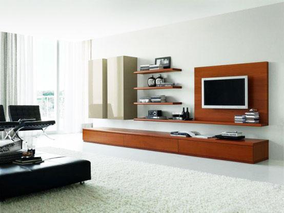 组合电视柜电视墙