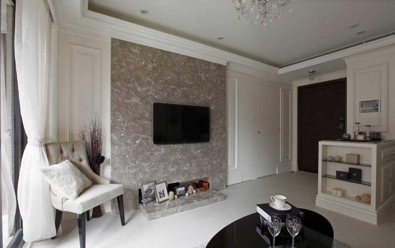 欧式清新电视背景墙设计效果图