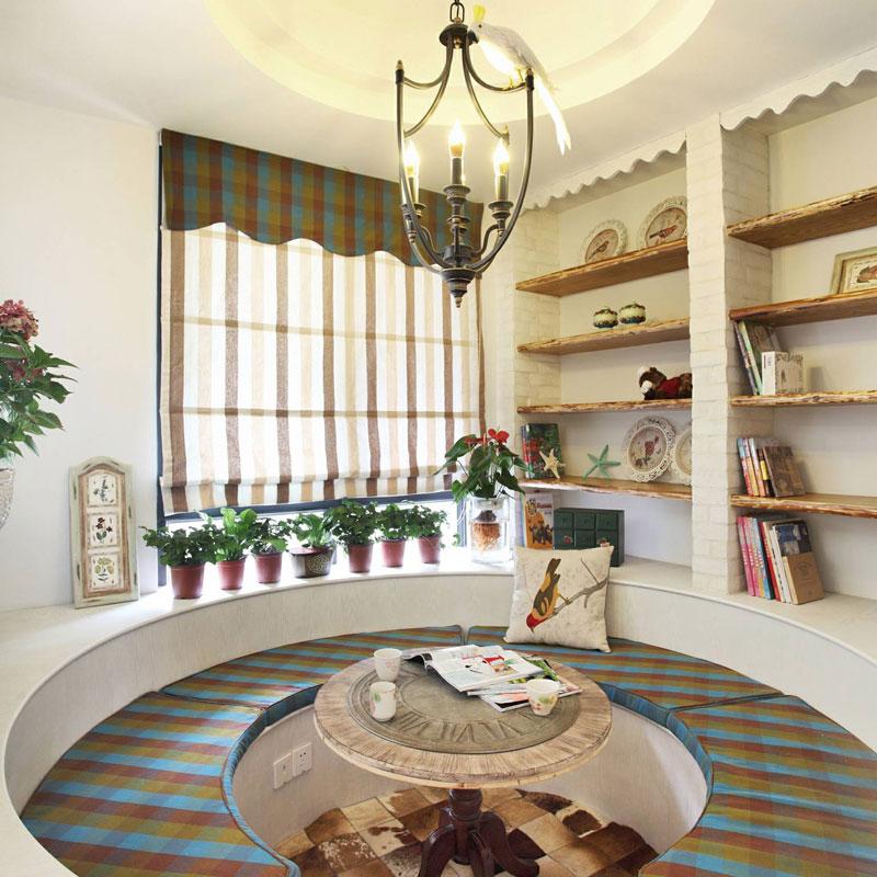 地中海风格三居室110平米效果图