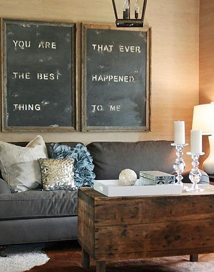 创意客厅涂鸦黑板墙设计_齐家网装修效果图
