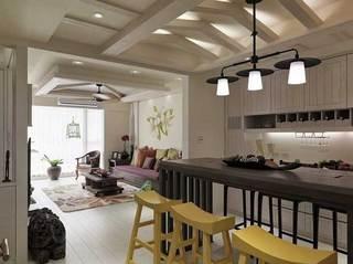 东南亚风格二居室110平米装修效果图