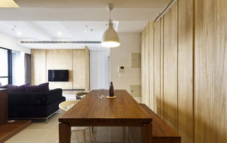 北欧风格二居室110平米设计图