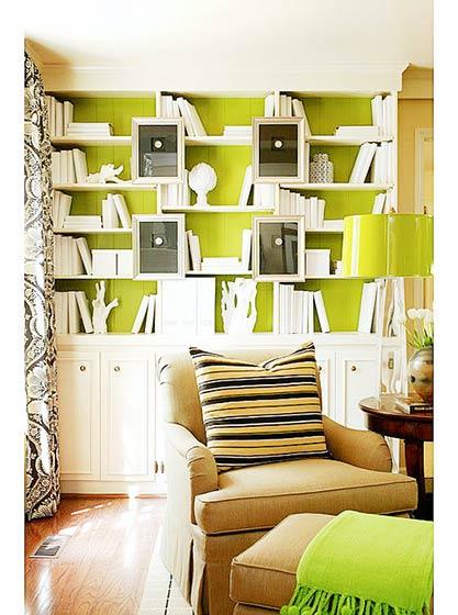 嫩黄色书房设计