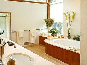 13张卫浴间绿植摆放布置图 给卫浴添绿意