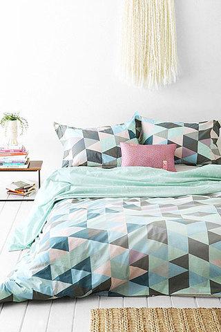 清新绿色床上用品