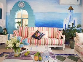 12个热带花卉抱枕 地中海客厅必备