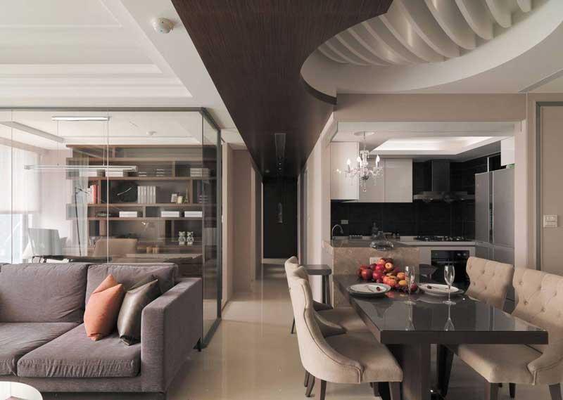 欧式风格三居室120平米效果图