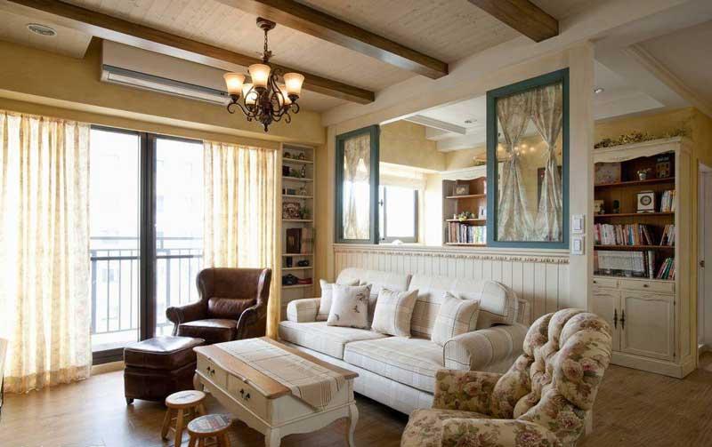 美式风格二居室80平米装修效果图