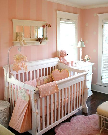 可爱女宝宝婴儿房设计
