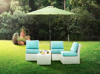 蓝色组合家具