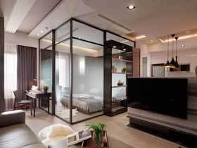 都市轻工业混搭风 48平一居公寓装出炫酷感