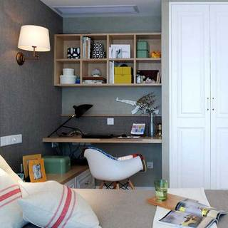 现代简约书房设计图片