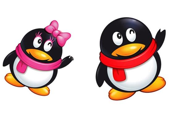 而q字母又有点像企鹅,两只企鹅并排交谈就是qq