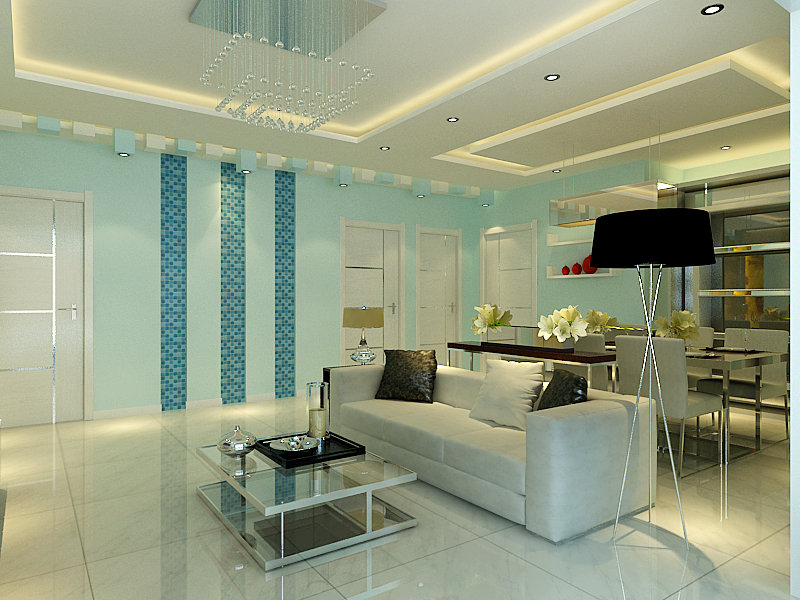 碧桂园8090现代简约装修效果图,室内设计效果图 齐家装修网高清图片