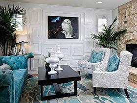 冷色简约11图 造出客厅时尚感