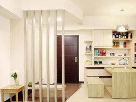 舒适米黄色日式 简单清新两居室设计