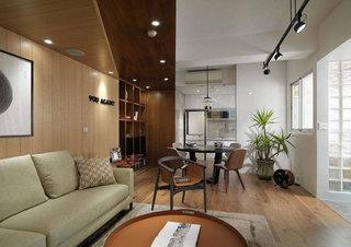 现代简约风格三居室时尚100平米装修效果图