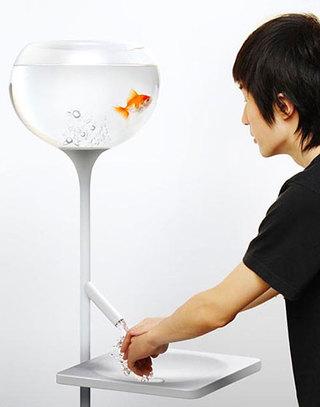 创意鱼缸点亮家居生活