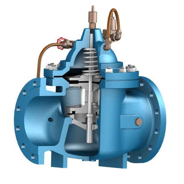 水力控制阀大致分为浮球阀(100x),减压阀(200x),缓闭止回阀(300x)图片