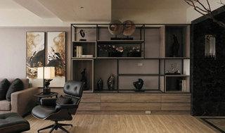 现代简约风格三居室130平米效果图