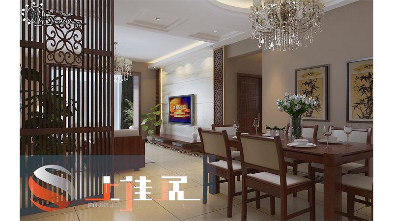 客餐厅现代中式效果图