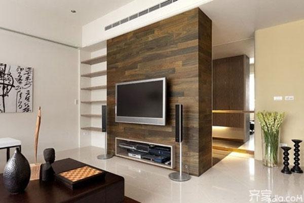 木地板做电视背景墙:施工步骤