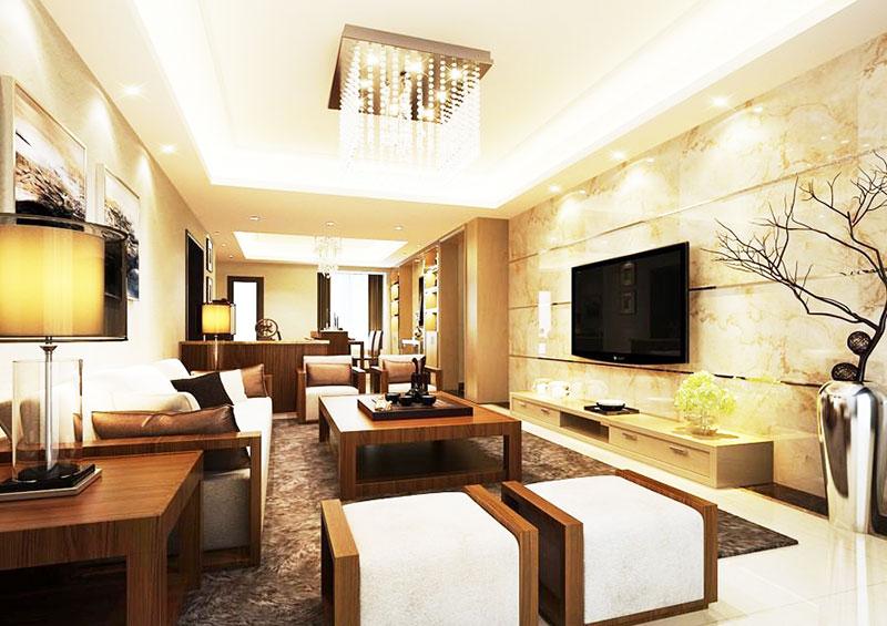 中式客厅电视背景墙设计