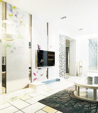 简洁中式客厅电视背景墙
