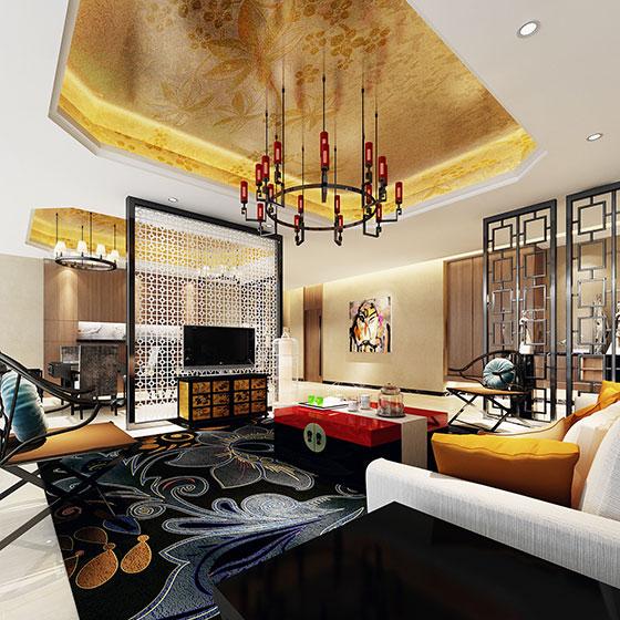 雅致中式客厅电视背景墙