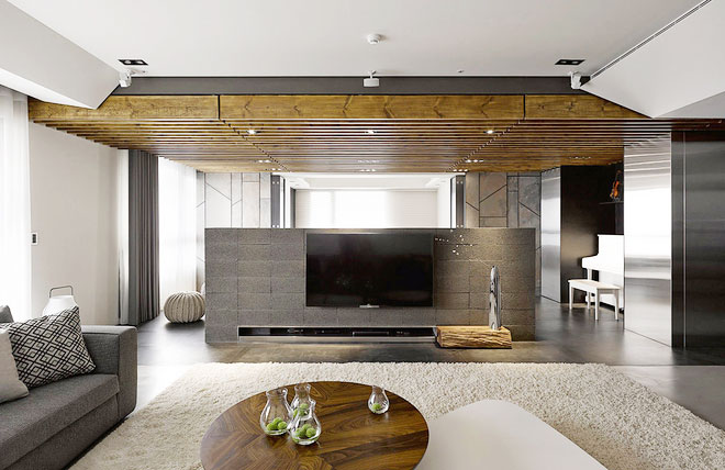 美观实用隔断电视背景墙