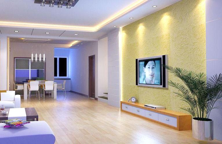 时尚硅藻泥电视背景墙