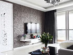 15个客厅电视背景墙墙衣 一道靓丽风景线