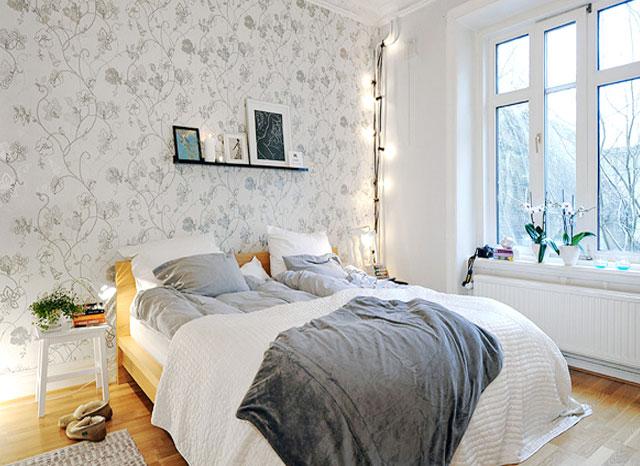卧室壁纸装修效果图_卧室壁纸图片大全