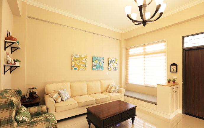 美式新古典客厅设计