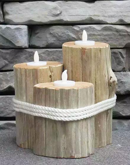 废旧木材巧变DIY创意灯具