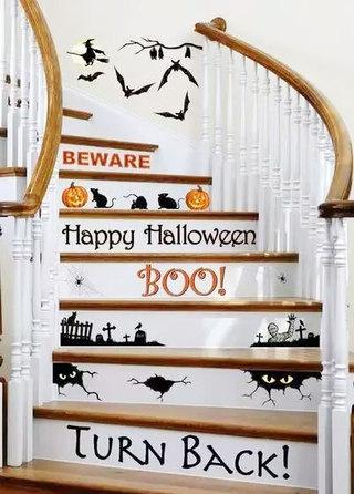 创意彩绘字母图案楼梯设计