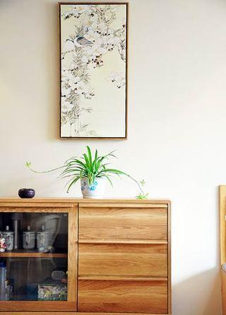 日式风格舒适原木色80平米效果图