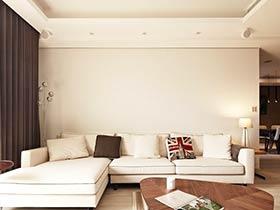 温馨浅咖色调 很有时尚感的两居室装修