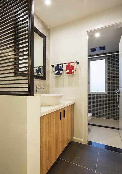 90平米小户型装修效果图洗手间设计9/11