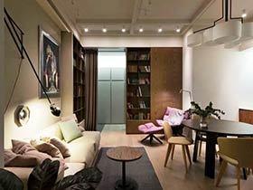 92平米简约美式家 精巧客厅设计