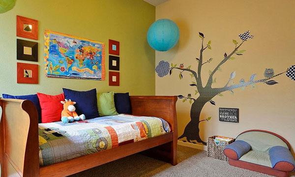 儿童房墙面怎么装修?图片