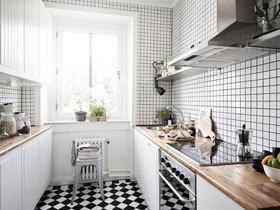 厨房的千姿百态 12款黑白厨房设计图