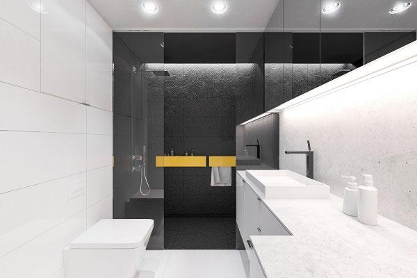 简约风格黑白色空间卫生间设计