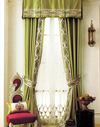 大气客厅窗帘装修效果图