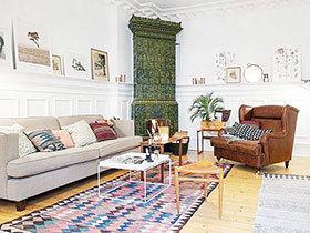 12个北欧风情客厅地毯 方寸之地造温暖