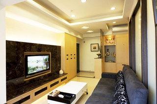 68平米小户型装修案例电视背景墙设计