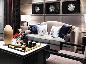 中性色打造豪华新中式样板房 美好的家就应该是这样子