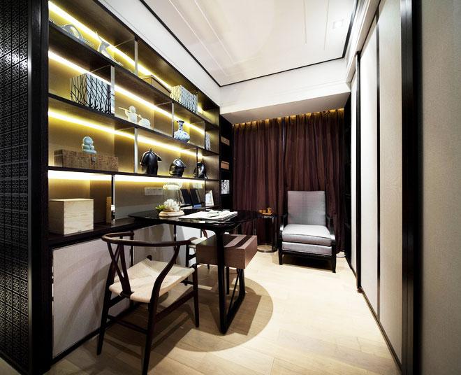 150平米装修效果图中式书房设计