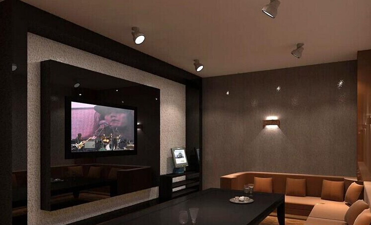 KTV电视背景墙装修效果图